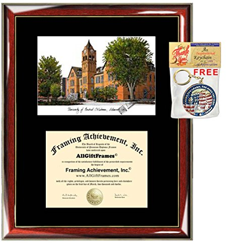 - University of Central Oklahoma Diploma Frame Lithograph UCO Diploma Case Holder Framing Degree Graduation Graduate Gift Black Matted University Frames