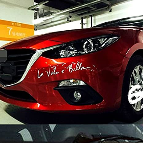 Auto Styling Aufkleber La Vita E Bella Auto Aufkleber Vinyl Aufkleber Dekoration Film Aufkleber Diy Auto Tuning Teile Weiß