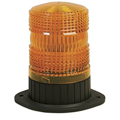 """Federal Signal 462121-02 Renegade Strobe Beacon, Class 3, Permanent/ 1/2"""" Pipe Mount with Amber Dome: Automotive"""