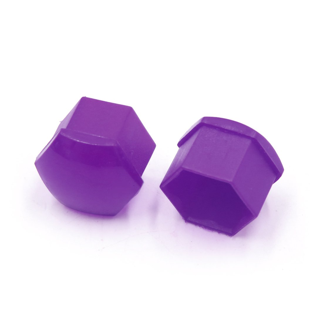 Sourcingmap 20pcs 17mm Purple Plastic Wheel Lug Nut Bolt Cover Cap with Removal Tool for Car