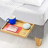 BedShelfie Slide The Original Bedside Shelf - for Flat Base Beds - AS SEEN ON Business Insider (Slide Style, Natural)