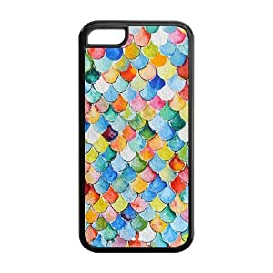 LJF phone case LeonardCustom Durable Protective Hard TPU Rubber Fitted Cover Case for iphone 4/4s , Fashion Mermaid Scales