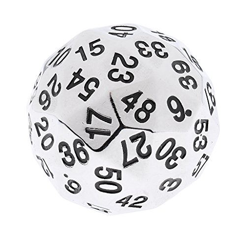 MagiDeal 38mm Alloy Polyhedral Dice 60 Sided D60 Die for D&D RPG Board Game w/ Bag #5 by MagiDeal