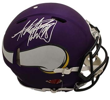 Amazon.com  Adrian Peterson Autographed Signed Minnesota Vikings Speed  Proline Silver Helmet BAS  Sports Collectibles bea5b4491