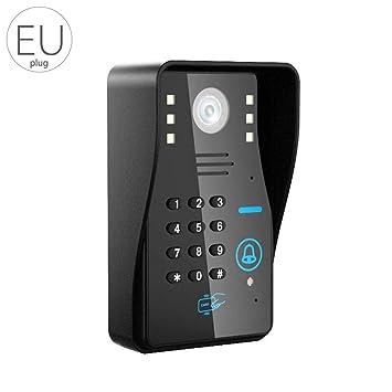LUFA WIFI Video Door Door Doorbell Intercom Night Vision WiFi Monitor para Android / IOS Phone APP Control ID Tarjeta Teclados Unclock: Amazon.es: Hogar