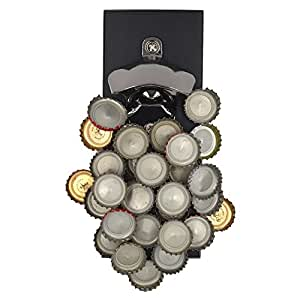 Franklin & Crew Magnetic Beer Bottle Opener w/ Zinc Alloy & Cap Catcher Ideal for Parties BBQs & Gifts