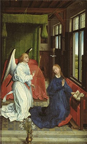 The Perfect Effect Canvas Of Oil Painting 'Follower Of Rogier Van Der Weyden,The Annunciation,late 15th Century' ,size: 30x50 Inch / 76x126 Cm ,this Reproductions Art Decorative Prints On Canvas Is Fit For Bar Decoration And Home Artwork And Gifts