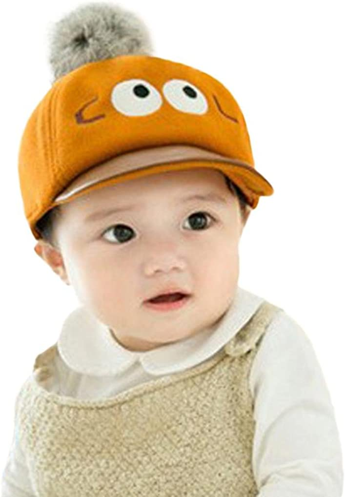Iuhan Cartoon Big Eyes Cute Baby Kids Girls Boys Cap Cotton Ball