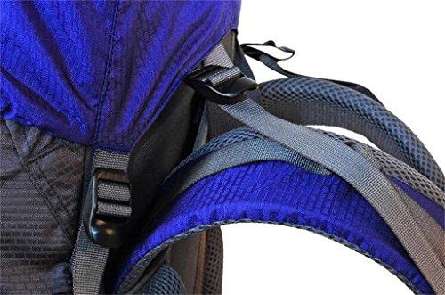 Sport e sacchetto di alpinismo di svago di grandi uomini e donne borsa zaino tracolla della borsa di capacità ( colore : Rosso , dimensioni : 50+10L )