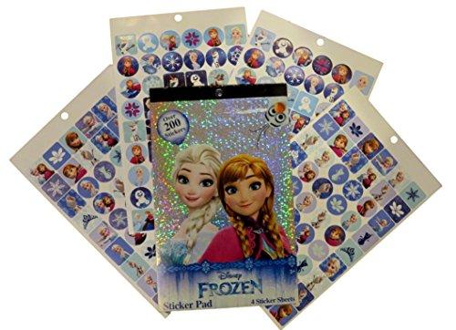 Disney Frozen Sticker Pad - 4 Sticker Sheets Over 200 Stickers
