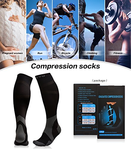 Atist Compression Socks for Women & Men, 20-30 mmHg, Crossfit, Boost Calf Muscle Performance & Stamina, Black, L/XL by Atist (Image #6)