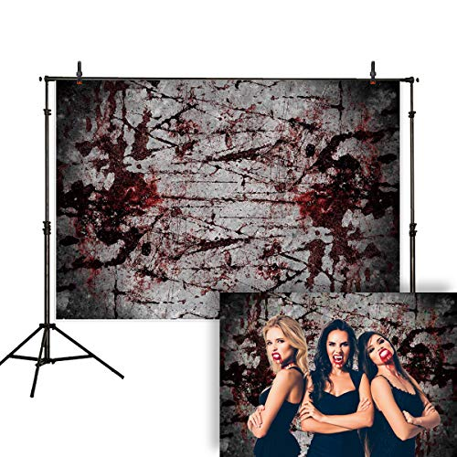 Allenjoy 7x5ft Halloween Bloody Wall Photography Backdrop Vampire Zombie Blood Handprint Horror Party Vintage Background Decoration Banner Photo Studio Booth]()