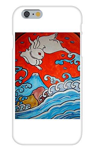 Obama Phone Costume (Rabbit Over the Sea Mural Yuya Negishi YUYART - Apple iPhone 6 Custom Case White Plastic Snap On)