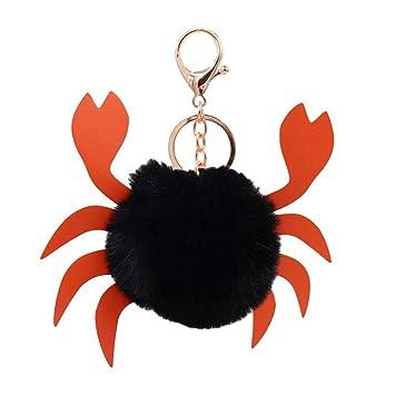 Amazon.com: Llavero con diseño de pompón de cangrejo ...