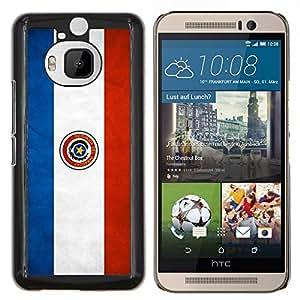 "Be-Star Único Patrón Plástico Duro Fundas Cover Cubre Hard Case Cover Para HTC One M9+ / M9 Plus (Not M9) ( Bandera nacional de la Serie-Paraguay"" )"