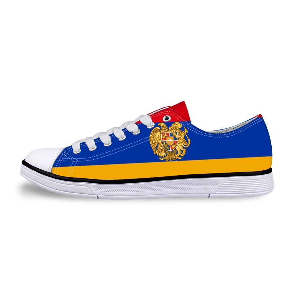 Canvas Low Top Sneaker Casual Skate Shoe Mens Womens Armenia Flag National Emblem
