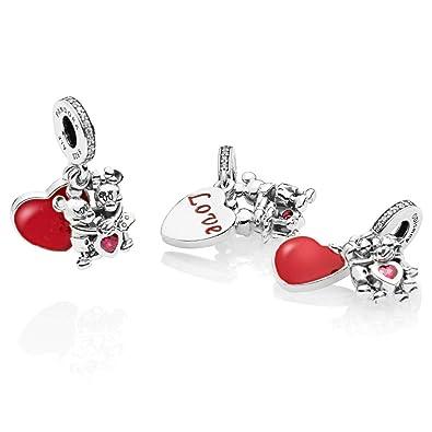 c282ac869 Amazon.com: Pandora Disney Minnie & Mickey with Love Charm, 797769CZR:  Jewelry