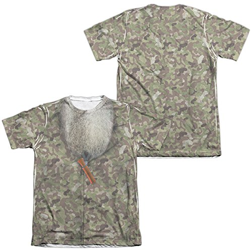 Duck Dynasty Camo Costume Unisex Adult Sublimated Poly/Cotton T Shirt for Men and Women