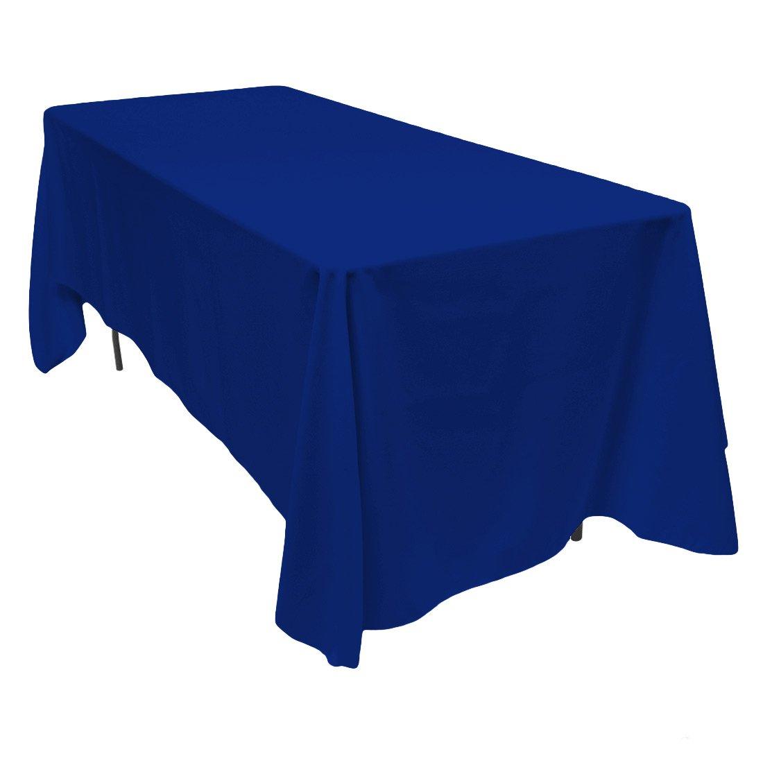 Amazon.com: LinenTablecloth 70 X 120 Inch Rectangular Polyester Tablecloth  Royal Blue: Home U0026 Kitchen