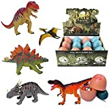 Liberty Imports 3D Dinosaur Puzzle in Jurassic Egg Educational Assembly Kit | Ideal Kids Dino Figure Party Favors Bulk Supplies (Set of 12)