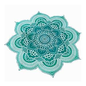 Tapiz Tiro Estera de Yoga Colcha Dormitorio Hippie Mandala Estilo de Bohemio Redonda - Verde | DeHippies.com