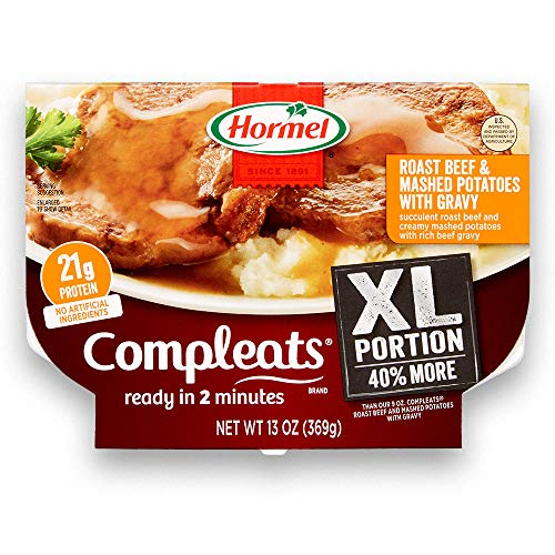 Hormel Compleats XL Roast Beef & Mashed Potatoes with Gravy, 13 Ounce (Pack of 5)
