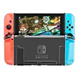 Dockable Case Compatible with Nintendo Switch, Shadowin Protective Accessories Cover Case Compatible with Nintendo Switch and Nintendo Switch Joy-Con - Clear