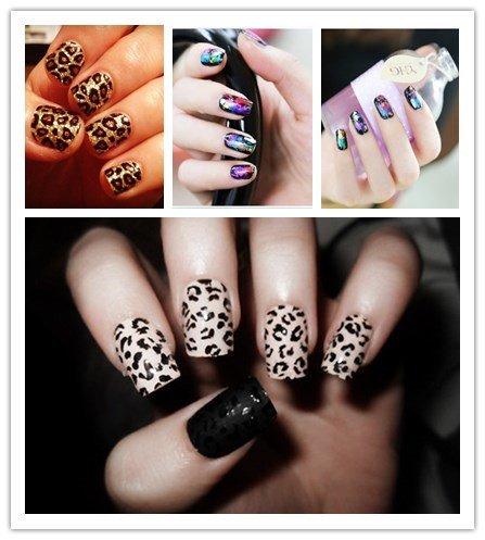 Newest Fashion Nail Art Transfer Foil Mix Color Tiger Leopard