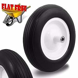 "Generic YC-AUS2-150916-14 <8&1362*1> ow 5/8""rt Wagon Tr Cart Wagon Tread (1)Flat Free Tubeless Ribbed Tire WheelBarrow Wheel barrow 5/8"" (1)Flat Fre"