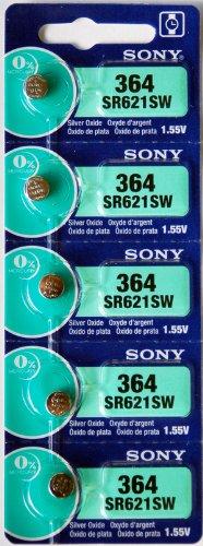 10-Sony-364-SR621SW-Knopfzelle-Silberoxid-Uhrenbatterie-155-V-23-mAh-Armbanduhr-Batterien-Made-in-Japan