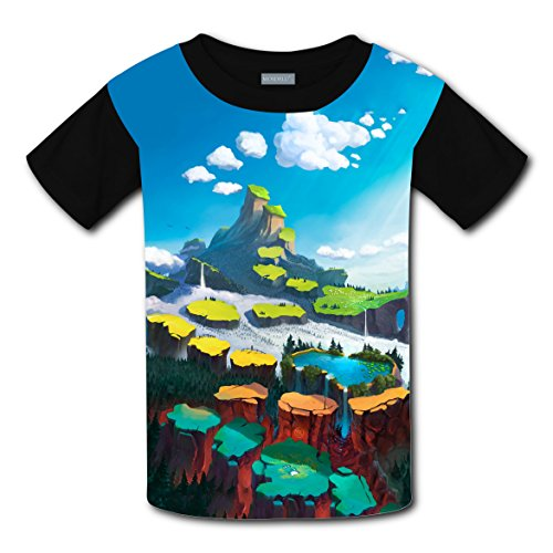(Crew Neck New Sports Tshirt 3D Personalized With Mountain For Boy Girl)