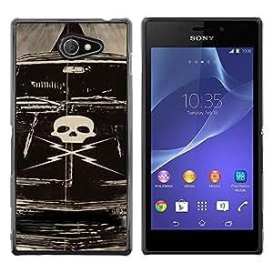 EJOY---Cubierta de la caja de protección la piel dura para el ** Sony Xperia M2 ** --Deathproof coche