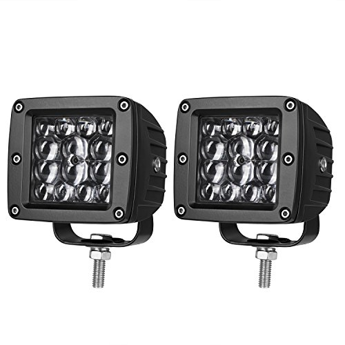 Quad Row LED Pods, AKD Part 2pcs 84W LED Light Bar 4 inch Spot Beam Philips LED Work Lights Driving Lights Super Bright LED Cube Off Road Lights for Truck Motorcycle Boat, 2 Years Warranty