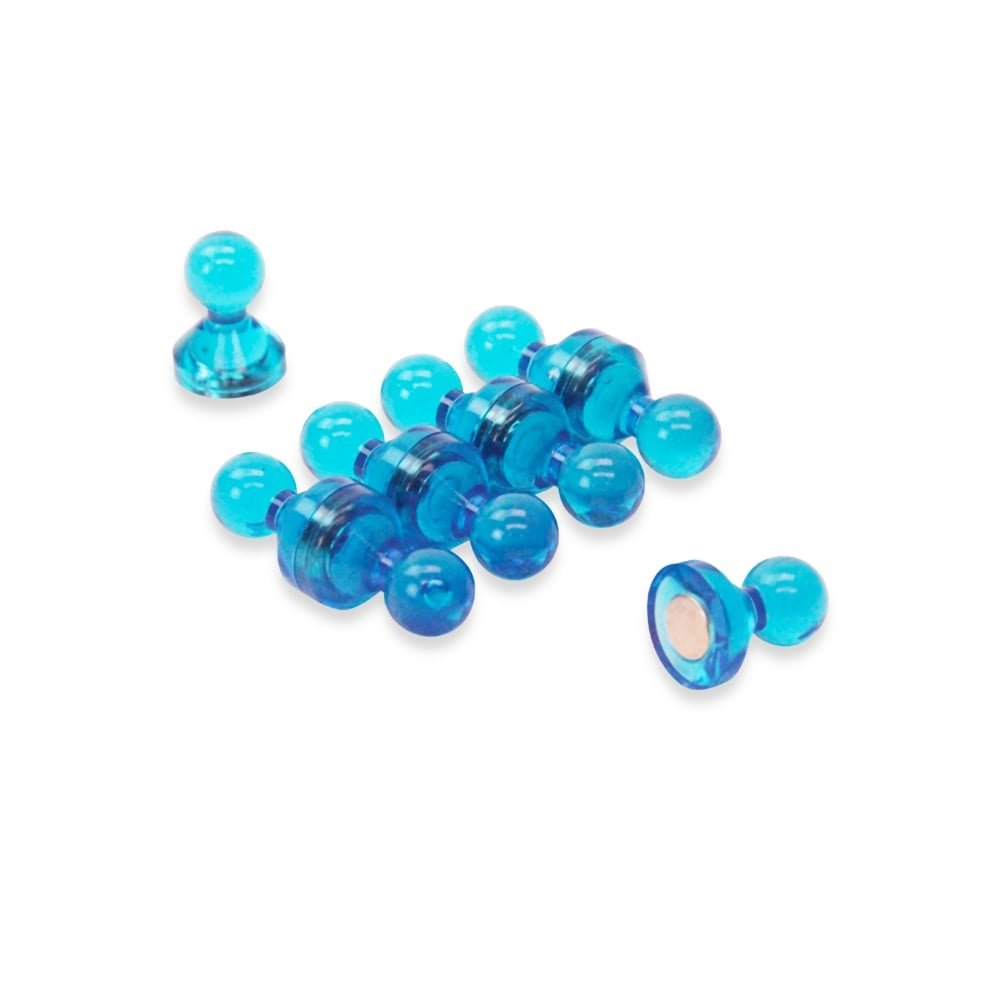 Magnet Expert® Moyen bleu acrylique pousser épingle aimant, 15mm diamètre x 21mm grand, 1 pack de 10 15mm diamètre x 21mm grand Magnet Expert® F4M15-BU-1