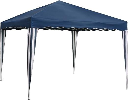 Ldk Garden 8116600 - Mirador plegable para camping y playa, 300 x 300 x 240 cm, color azul: Amazon.es: Jardín