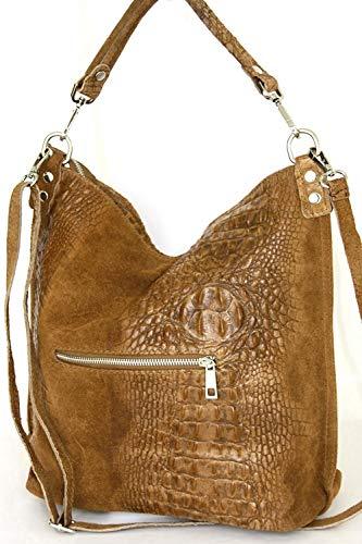 pour Caramell 2107 fourre épaule Sac cuir Mod femme sacs tout portés Italy facon croco qXff4wcOR