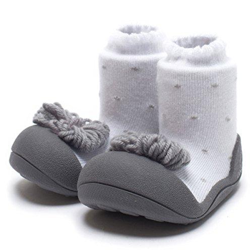 Attipas- Zapatos Primeros Pasos -Modelo Ribbon Gris
