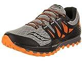 Saucony Men's Xodus ISO Trail Running Shoe, Grey/Orange/Blue, 10 M US