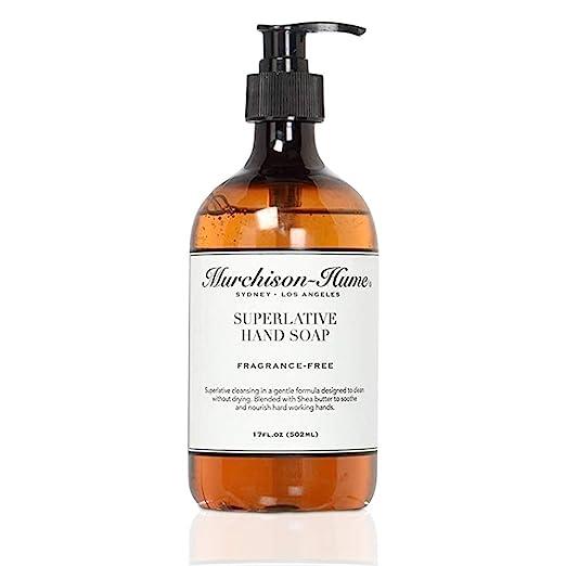 Murchison-Hume Superlative Natural Liquid Hand Soap - Non-Toxic Fragrance Free 17 Oz