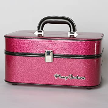 133e7606f1 Amazon.com : Lux De Ville PIN UP COUTURE TRAIN CASE in Pink Sparkle :  Cosmetic Bags : Beauty