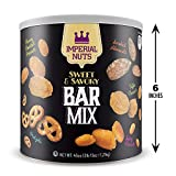 Imperial Nuts Sweet & Savory Bar Mix - Featuring Smoked Almonds, Pretzels, Toffee Peanuts, Spicy Peanuts, Honey Roasted Peanuts, - Delicious tasty snack for any occasion!