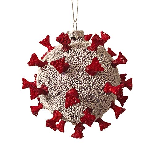 Christmas 2020 Ornament Glass Ball With Spikes Gag Gift Novelty 3D Spikeball Ornament 5 in x 5 in x 5 in
