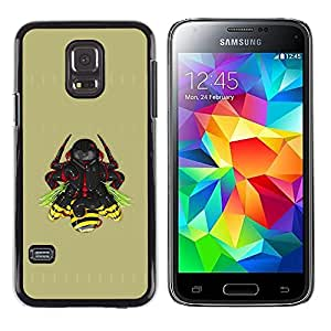 Shell-Star Arte & diseño plástico duro Fundas Cover Cubre Hard Case Cover para Samsung Galaxy S5 Mini / Galaxy S5 Mini Duos / SM-G800 !!!NOT S5 REGULAR! ( Samurai Warrior )