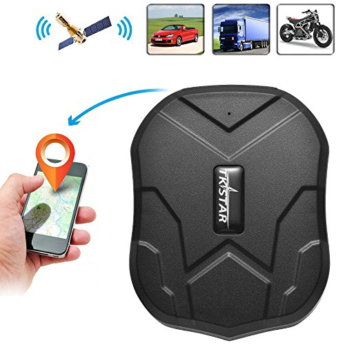 TKSTAR GPS Tracker with Strong Magnet for Car/Vehicle/Van Truck Fleet Management GPS Locator Realtime Accurate Location Device Waterproof 90 Days Long Standby Remove Alarm Free Tracking Platform TK905 (For Animals Gps Tracking)