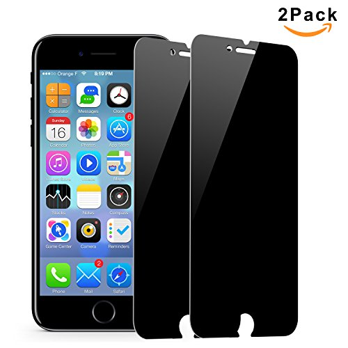 [2 Pack] Magicmoon iPhone 7 / 8 Privacy Screen Protector, Anti-Spy Tempered Glass Screen Guard for iPhone 7/8 4.7 inch- Keep Your Information Private, Protect Your Screen from Scratches (Protect Screen)