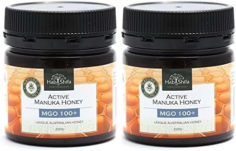 Hab Shifa Nature's Divine Secret Active Manuka Honey MGO100+ - Premium Australian Honey (250g) (250g (2 pack))