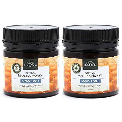 Hab Shifa Nature's Divine Secret Active Manuka Honey MGO100+ - Premium Australian Honey (250g) 2 Pack