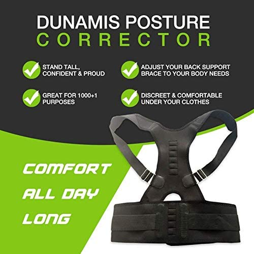 磁気姿勢矯正器バックブレース肩腰腰椎サポートベルトザトウクジ予防体の痛みを軽減 (Size : M)