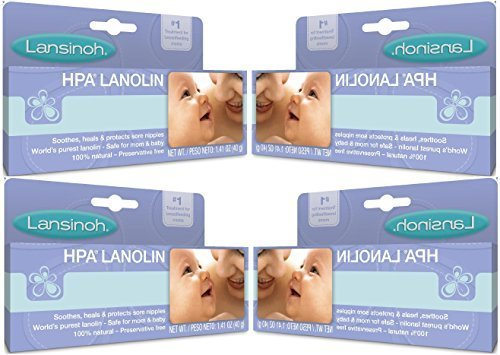 Lansinoh Lanolin Nipple Cream, 1.41 Ounces each (Value Pack of 4)