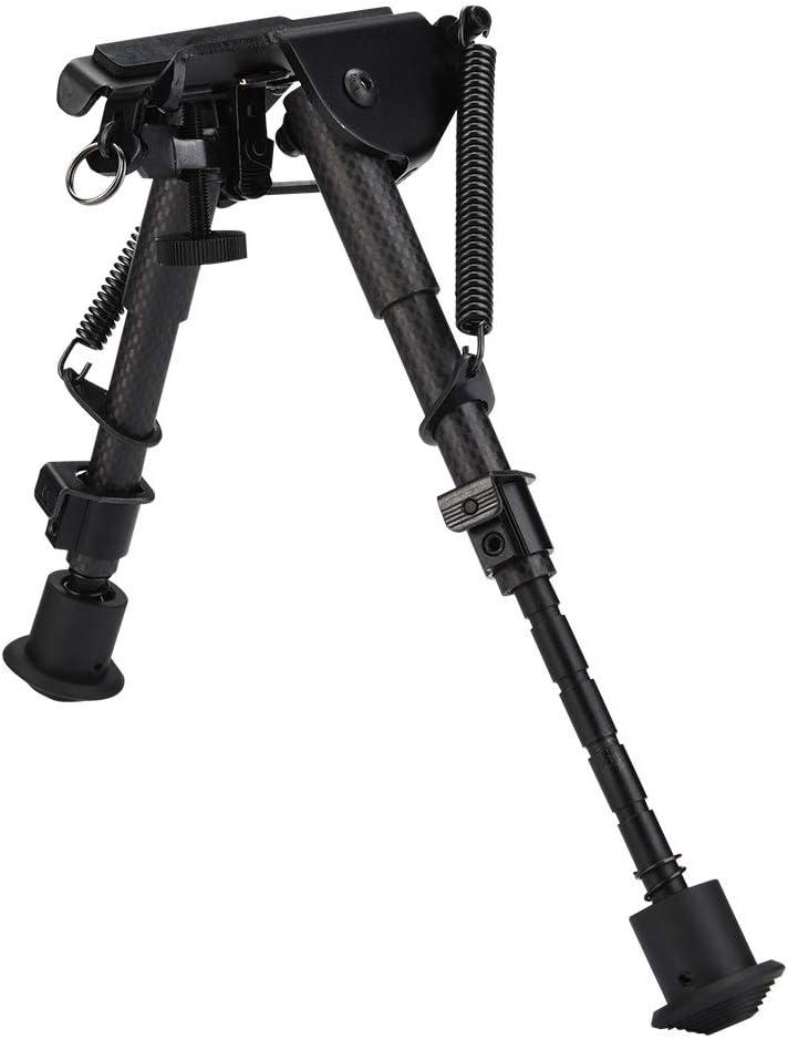 Wolfgo Tácticas Ajustables Plegables de Fibra de Carbono Duradera bípode de 6 Pulgadas Soporte de Rifle bípode
